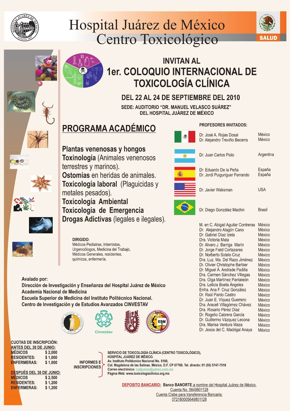 1er Coloquio Internacional de Toxicología Clínica