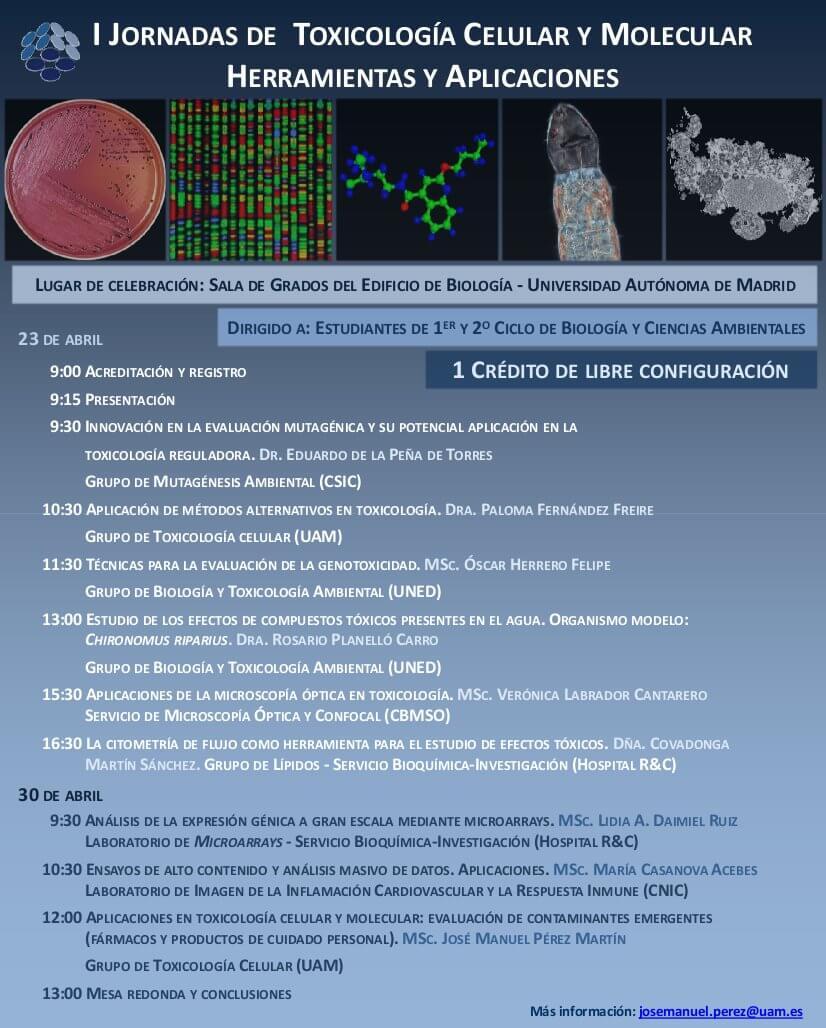 I Jornadas de Toxicología Celular y Molecular