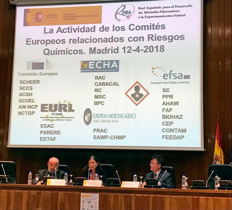 Apertura de la jornada sobre Comités Europeos relacionados con Riesgos Químicos