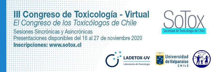 III Congreso de Toxicología SOTOX (Modalidad Virtual)