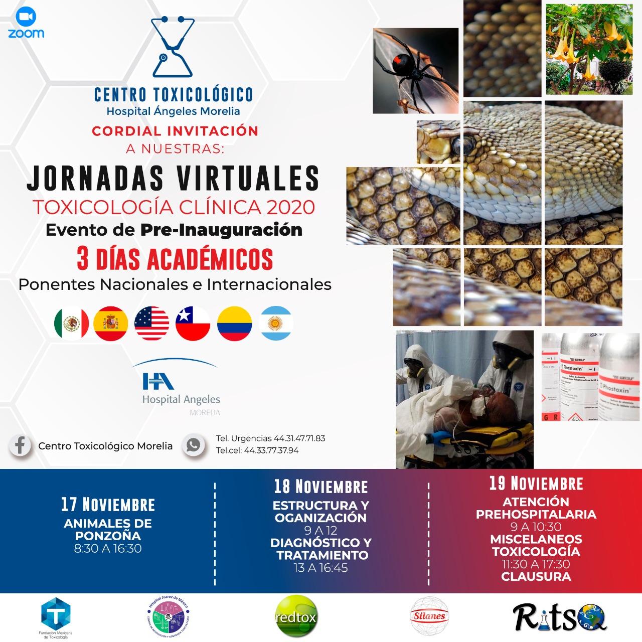 Jornadas Virtuales de Toxicología Clínica 2020
