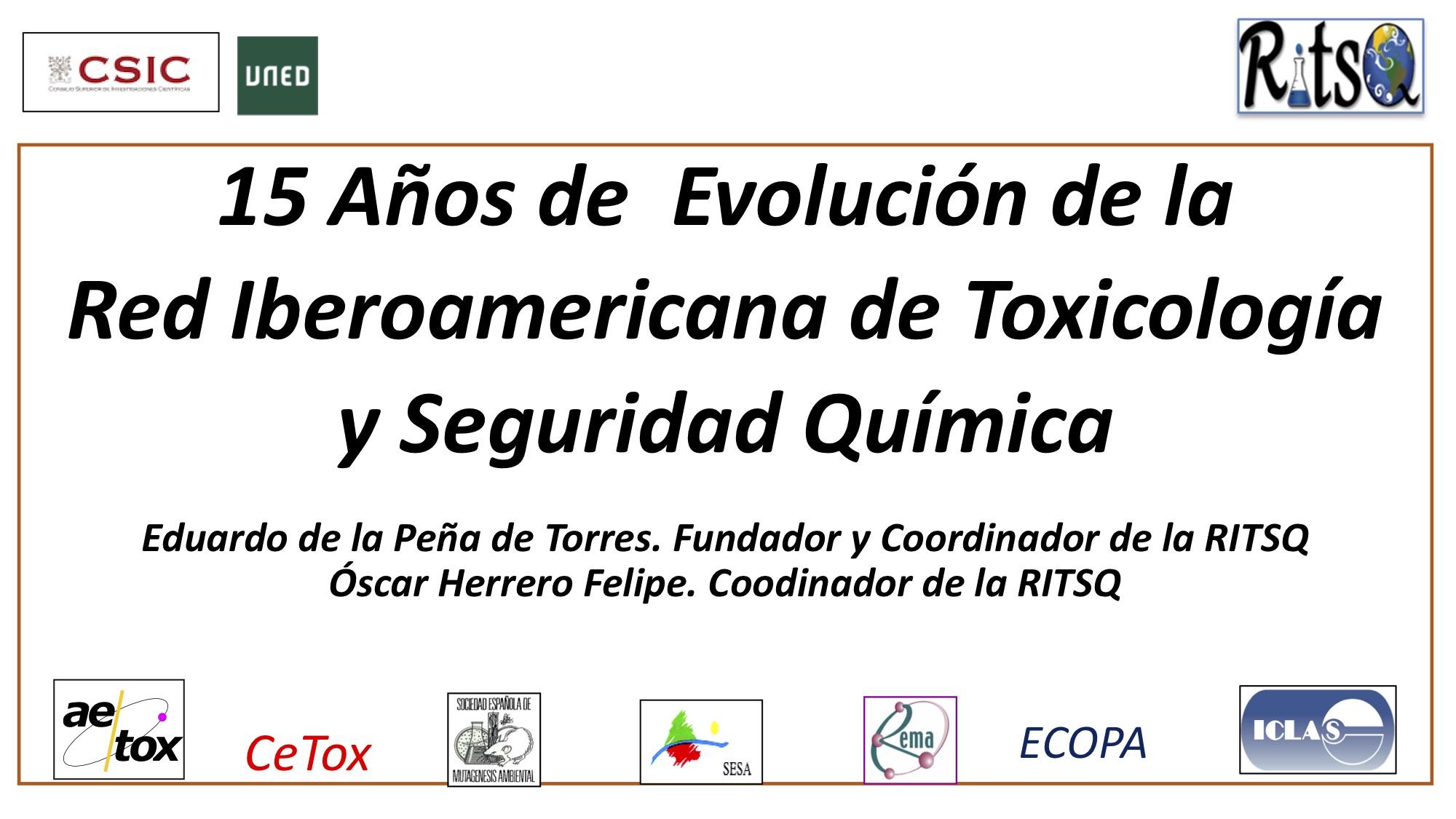 15 Años de Evolución de la Red Iberoamericana de Toxicología y Seguridad Química
